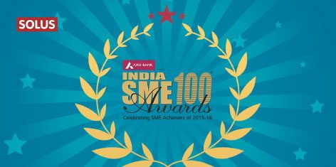 Solus is now recognized as one of India's top 100 Small and Medium Enterprises